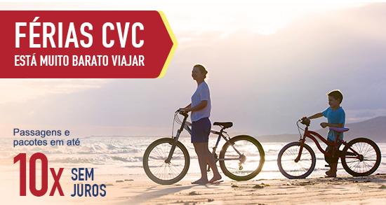 FÉRIAS CVC // Está muito barato viajar ... Ofertas em até 10x sem juros!